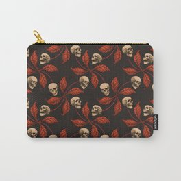 VINTAGE HALLOWEEN CHERRY SKULL Carry-All Pouch
