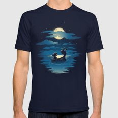 Oceans Mens Fitted Tee Navy LARGE