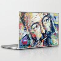 hemingway Laptop & iPad Skins featuring Ernest Hemingway by Marta Zawadzka