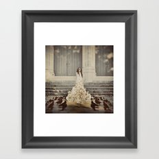Bridal Portrait Framed Art Print
