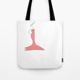 Women design silhouette Pink Tote Bag