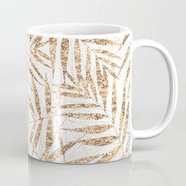 Elegant golden tropical palm leaves design Coffee Mug