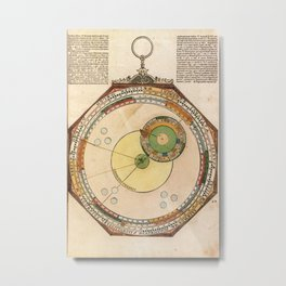 Peter Apian - Astronomicum Caesareum 1540 - Plate 10 The Course of Venus on the Ecliptic Metal Print