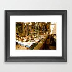 Handmade Boats Framed Art Print
