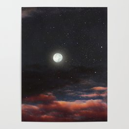 Dawn's moon Poster