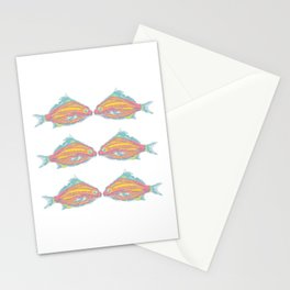 fish little kissing Stationery Cards