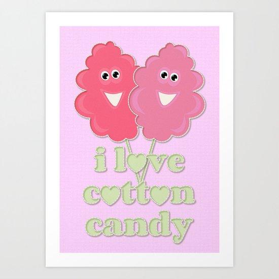 cute cotton candy Art Print