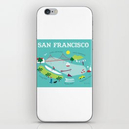 San Francisco, California - Collage Illustration by Loose Petals iPhone Skin