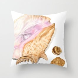 Seashells 01 Throw Pillow