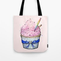 cupcake Tote Bags featuring Cupcake by Olechka