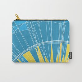 Abstract pattern, digital sunrise illustration Carry-All Pouch