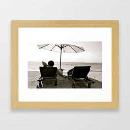 Comfortable Love Framed Art Print