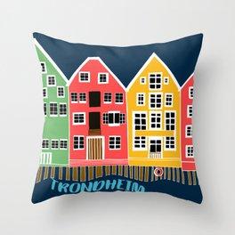 Trondheim Norway Souvenir Throw Pillow