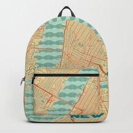 New York Map Retro Backpack