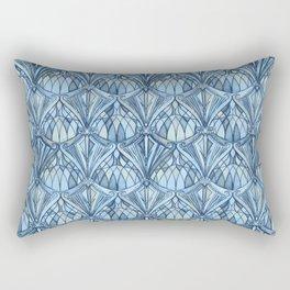 View From a Blue Window Rectangular Pillow
