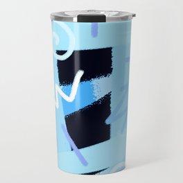 vintage 90s craze blue Travel Mug