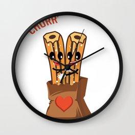 Churr' All That I Need Churros Lover Gift Wall Clock