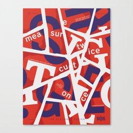 TSS 006 : Cut & Paste Canvas Print