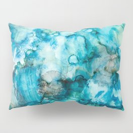 Blue Abstract Pillow Sham