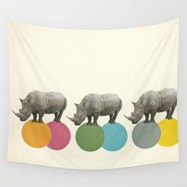 Rambling Rhinos Wall Tapestry