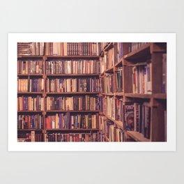 Old Book Shop Art Print