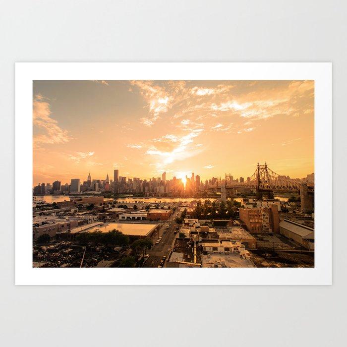 New York City Skyline Art Print By Newyorkphotography