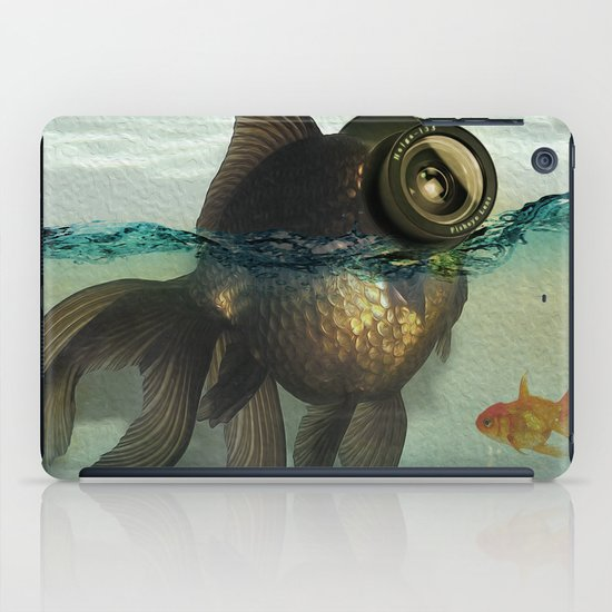 Fish eye lens iPad Case