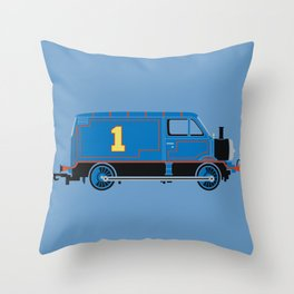 Tommy the Van Engine Throw Pillow
