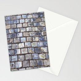 Old San Juan Blue Cobblestone Streets Stationery Cards