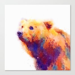 The Protective - Bear Canvas Print