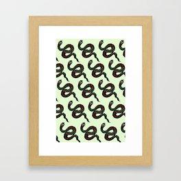 Snake Print Mint Framed Art Print