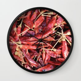 Chili Chipotle red hot Wall Clock