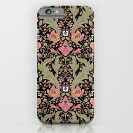 Spring Pattern with Poppy Flowers and Gladioli II iPhone Case