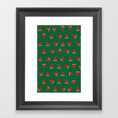 Sweet Watermelon Pictures Pattern Framed Art Print