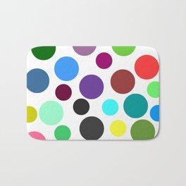 Spotty Colorful Circles Bath Mat