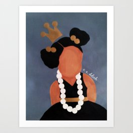 """Playing with Mommy's Pearls"" Art Print"