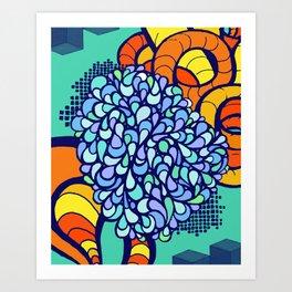 Paisley Tangle Art Print