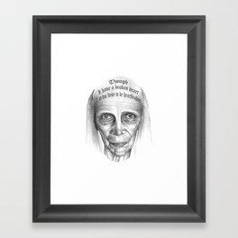 MIVIDA HA SIDO EXTRAORDINARIA SERIES 6# Framed Art Print