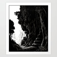 Stairway to the mine Art Print