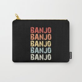 Retro Vintage Banjo design Gift 70s 80s Eighties Style Carry-All Pouch