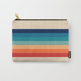 Vintage 70s Retro Rainbow Carry-All Pouch