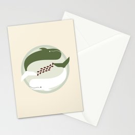 Matcha Red Bean Whales Stationery Cards
