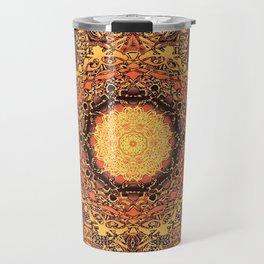Marigold Mandala Travel Mug