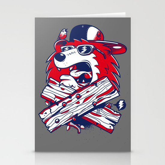 Old School Bear Stationery Cards