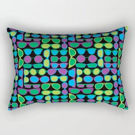 Sunglasses Pattern in Cool Colos Rectangular Pillow