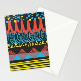 Parallel Shapes Stationery Cards