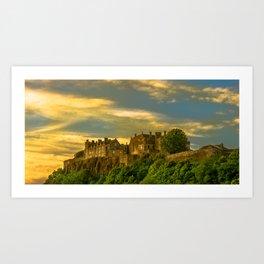 Stirling Castle at Dusk Art Print