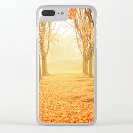 The Poetry of Autumn Clear iPhone Case