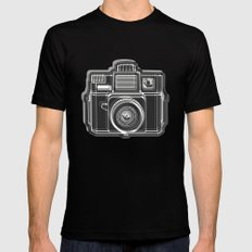 I Still Shoot Film Holga Logo - Black and White Black X-LARGE Mens Fitted Tee
