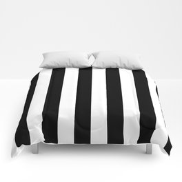 Black & White Vertical Stripes - Mix & Match with Simplicity of Life Comforters